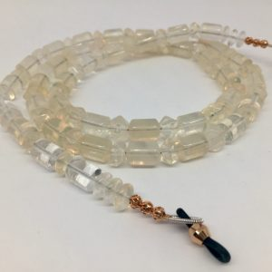 pineapple quartz eyeglass chain